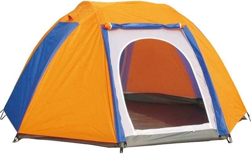 Qnlly Grande Tente étanche Tente 6-8 Personnes Contre Le Froid, l'escalade, L'Aventure (Orange)