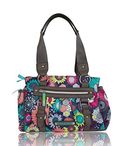 Lily Bloom Triple Section Landon Multi-Purpose Satchel Bag (Sunflower Peace)
