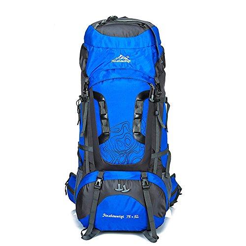 WYXIN75 L + 5 L sac à dos en plein air sac à dos étanche escalade pêche sac à dos randonnée randonnée sac de camping en plein air randonnée alpinisme sac, c