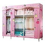 LJP Armario Armario portátil Dormitorio los niños de la Sala de Estar habitación compartida de almacenaje de la Ropa a...