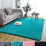 Rostyle Super Soft Fluffy Nursery Rug for Kids Teens Room Comfy Cute Floor Carpets Kids Playing Mat for Bedroom Living Room Home Decorate Area Rugs, 4 ft x 6 ft, Blue