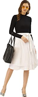 BESIVA Women's White Wrap Skirt