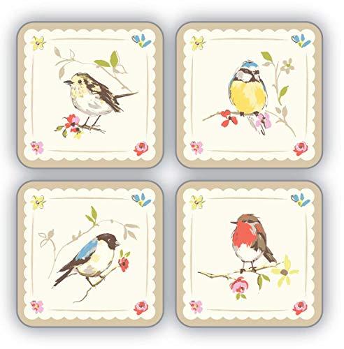 Cooksmart Dawn Chorus - Lot de 4 Dessous de Verres, Multicolore