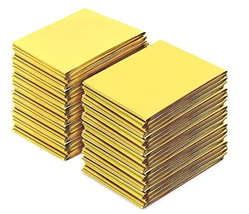 Premium Rettungsdecke | Extra Große Rettungsfolie für Erste Hilfe | 6 und 10 und 20 Stück | Gold/Silber | 210 x 140 cm | Kälteschutz | Hitzeschutz | Feuchtigkeitsbeständig Emergency Blanket