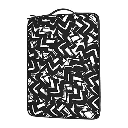 Funda para ordenador portátil de 13 a 15,6 pulgadas, color negro y blanco, resistente al agua, funda protectora de neopreno compatible con ordenador Tablet Lenovo, HP Envy, MacBook Pro, MacBook Air