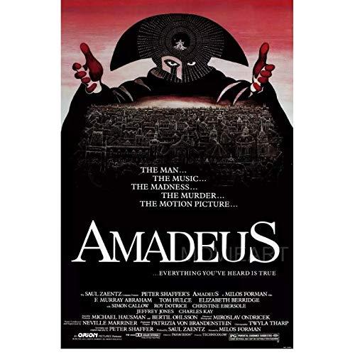 JLFDHR Amadeus Film Affiche peintures Impressions sur Toile Art Mural pour Salon Chambre décor-60x80cmx1 Pas de Cadre