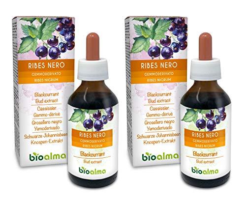 Ribes nero (Ribes nigrum) Gemmoderivato analcoolico da gemme fresche NATURALMA | Estratto liquido gocce 200 ml | Integratore alimentare | Vegano