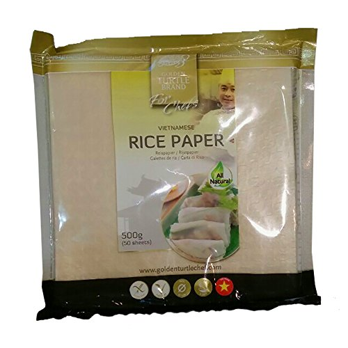 Fogli di riso quadrati 19cm per involtini primavera 50 fogli 500g