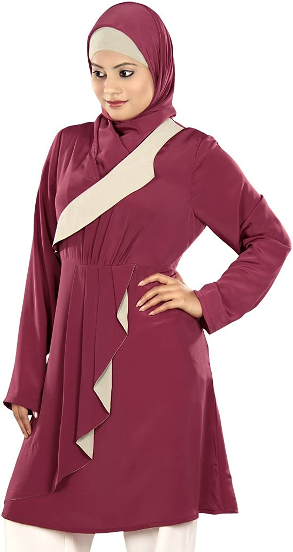 MyBatua Women's Beautiful Traditional Shamima Tunic in pink Pink