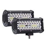 KKmoon Foco LED Trabajo,7' 400W 20000LM Faros Luz Adicionales,Luces Antiniebla Todoterreno Impermeable para Camionetas, SUV, Barcos
