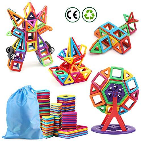 nicknack 116 Pezzi Costruzioni Magnetiche per Bambini Gioco Educativo e Creativo per Bimbi da 3 4 5 6 Anni