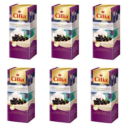 Melitta Cilia Tee Schwarze Johannesbeere 6 Packungen je 25 x 2,2g Teebeutel