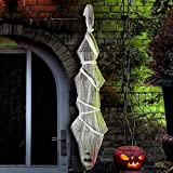 Sler Halloween Decorations Hanging Cocoon Corpse Halloween Props Decoration Scary Decor with Spider Web for Outdoor Indoor Party