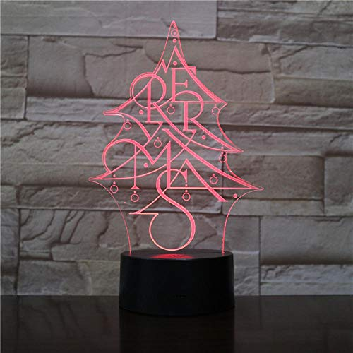 3D Illusion Light-Christmas Night Light 3D Led Lamp Mood Lamp Decor Lamp Night Light For Kids Game Gifts-Remote Control