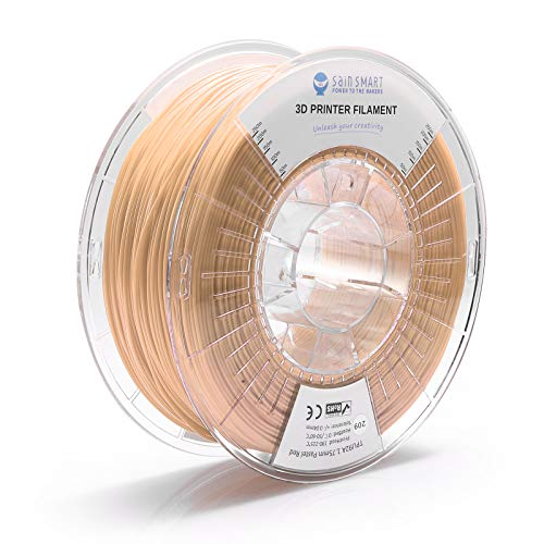 SainSmart TPU 1.75mm 92A Flexible TPU 3D Printer Filament, Dimensional Accuracy +/- 0.04 mm, 1KG, Pastel Skin
