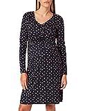 ESPRIT Maternity Damen Dress Nursing ls AOP Kleid, Night Sky Blue-485, XXL
