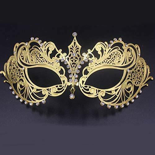 AAWFUL Schöne Phantomoper Maskerade Maske Schwarz Gold Weiß Weiblich Metall Silber Strass Party Hochzeit Ball Masken