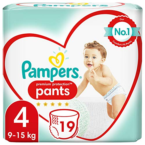 Pampers Premium Protection Pants, Größe 4, Pack of 19