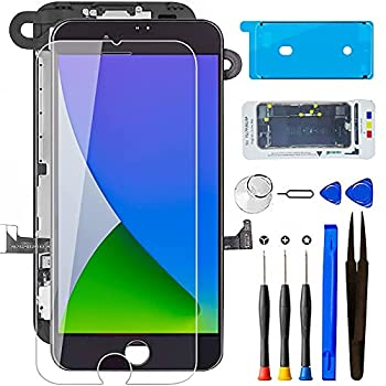 for iPhone 5S Screen Replacement with Home Button Black Mobkitfp Full Assembly LCD Touch Digitizer with Camera+Ear Speaker+Sensors+Repair Tools+Screen Protector for A1533 A1457 A1453 A1530