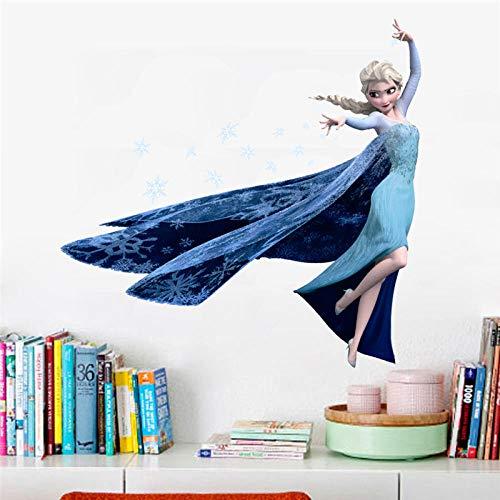Wandsticker Wandaufkleber für Kinderzimmer Home Decoration Diy Girls Decals Anime Wandkunst Frozen Movie Poster
