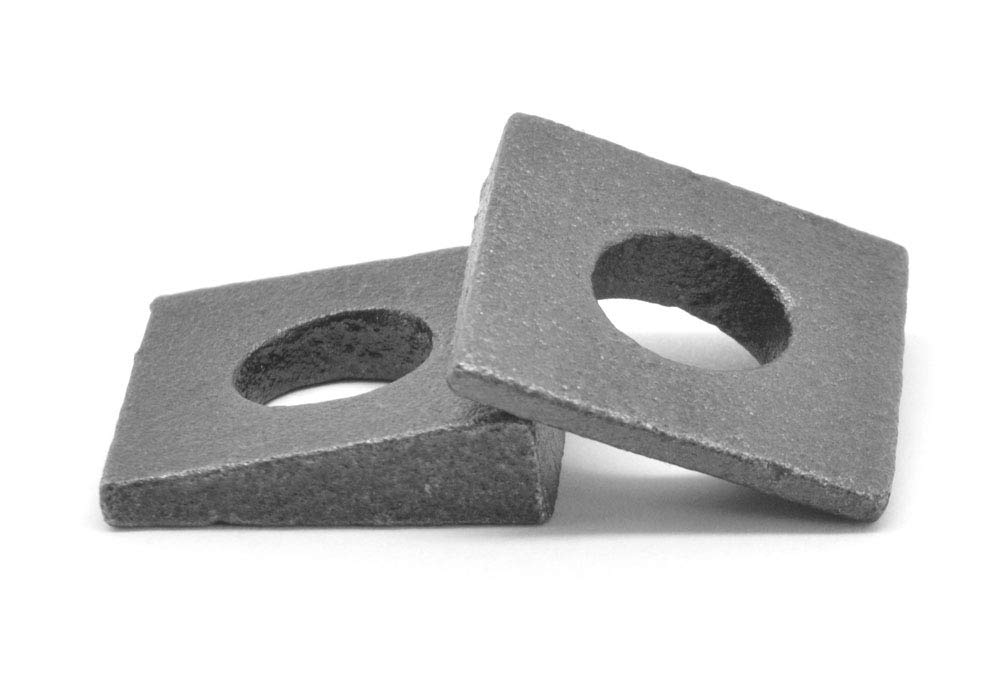 1 Square Beveled Malleable Washer Malleable Iron Plain Finish Pk 25
