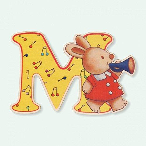 Dida - Lettre M Bois Enfant - Lettres Alphabet Bois pour Composer Le nom de Votre bébé et décorer la Chambre
