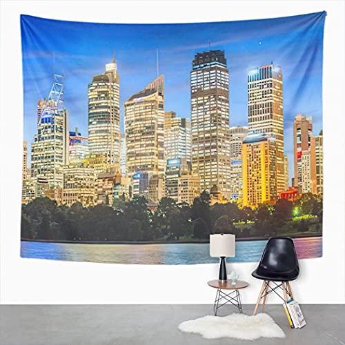 Y·JIANG Sydney Skyline Tapisserie,...