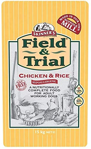 Skinner s Field & Trial Complete Dry Adult Working Dog Food Chicken and Rice, 15 kg