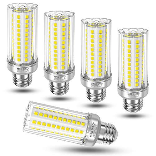 5er-Pack, Kaltweiß 6000K 16W E27 LED Maiskolben Birne 1900LM, Ersetzt Glühbirnen 120Watt 150Watt, Nicht dimmbar E27 Mais LED Lampen, Energiesparlampe Kleine Edison-Schraube Leuchtmittel E27