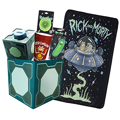 Rick and Morty Collectibles   Collector's LookSee Box   Throw Blanket and More