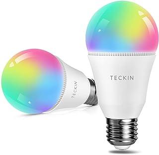 TECKIN Bombillas LED inteligentes Alexa E27 A19 60 W equivalentes a Alexa, Google Home, luz fría y cálida 2800 K-6000 K, 2 paquetes