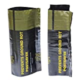 POSTSAVER 1 Sleeve   Protect 3.5' x 3.5' (4 x 4) Wood Posts Where Decay & Rot is Worst Below The Ground Level (SKU 4.5)