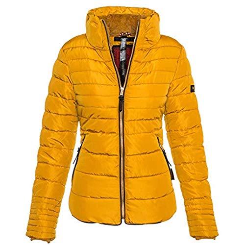 Mdlucz Dames winterjassen zijn genaaide jassen met opstaande kraag Teddywol warme voering, verjaardagscadeaus, vakantiegeschenken, cadeaus voor je vrouw