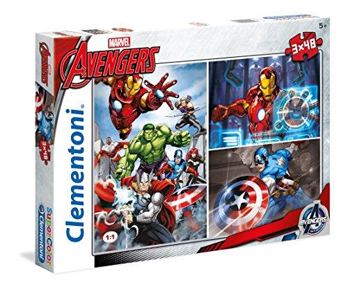 Clementoni 25203.9 - 3 x 48 T - Avengers Assemble
