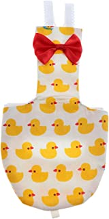 B Blesiya Bird Nappy Diaper Urine Pad Appropriate for Pet Pigeon Bird Parrot Conure Nappies Duck and Fish Pattern - Duck XS