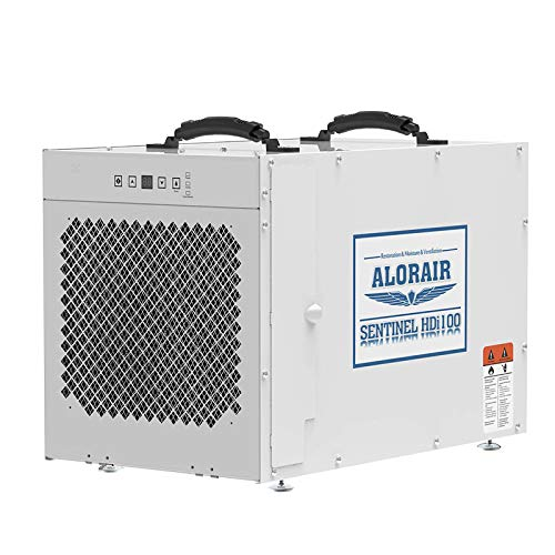 ALORAIR Sentinel HDi100 Commercial Dehumidifier with Pump, 220 Pints Whole Homes Dehumidifier for Crawl Spaces, Basements, up to 2,900 sq. ft. 5 Years Warranty, cETL, Optional Remote Monitoring