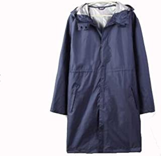NYDZDM Raincoat Poncho Casual Men's Raincoat with Cover Nylon Raincoat Outdoor Waterproof Poncho (Color : Blue, Size : L)