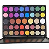 39 Color Pro Makeup Pallet, Pigmented Matte Shimmer Eyeshadow Palette Large Colorful Neutral Eye Shadow Palette Long Lasting Waterproof Makeup Pallet Holiday Eye Shadows by Everfavor