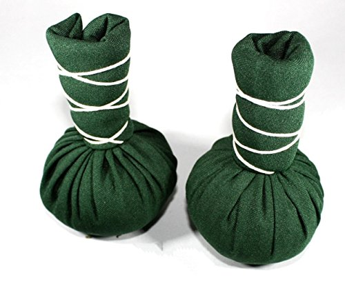 Kruidenstempel - groene thee - 2 stuks à 75 g - groene thee compress bal - vervijkt lichaam en geest