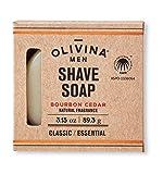 Olivina Men Shave Soap, Bourbon Cedar, 3.15 Fluid Ounce