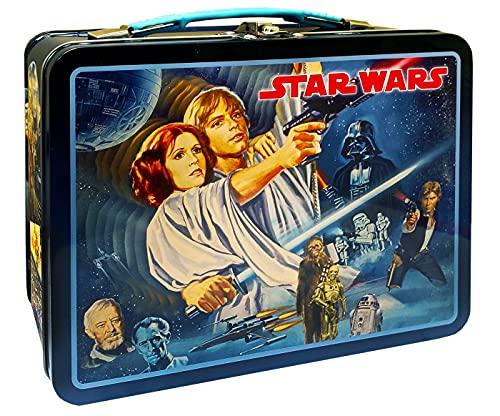 The Tin Box Company 344707-DS Star Wars Vintage Classic Tin Lunchbox, Black