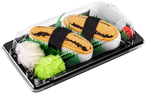 Rainbow Socks - Mujer Hombre Calcetines Sushi Tamago - 1 Par - Tamaño 41-46