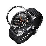 JIJI886 pour Galaxy Watch 46mm / Samsung Galaxy Gear S3 Frontier & Classic Couverture adhésive Anneau Lunette (Noir)