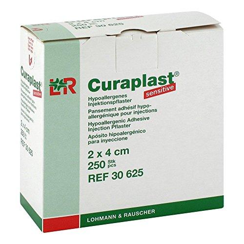 Curaplast sensitive – Injektionspflaster für normale und sensible Haut 2 x 4 cm (250 Stück)