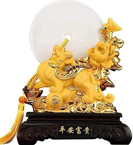 WHBDD Matériel de Vie Sculptures Décore Figurines à Collection Cadeau d'Artisanat Feng Shui Feng Shui Ping An Pi YAO/PI XIU Richesse Porsperity Lucky Home Business Feng Shui Estatua
