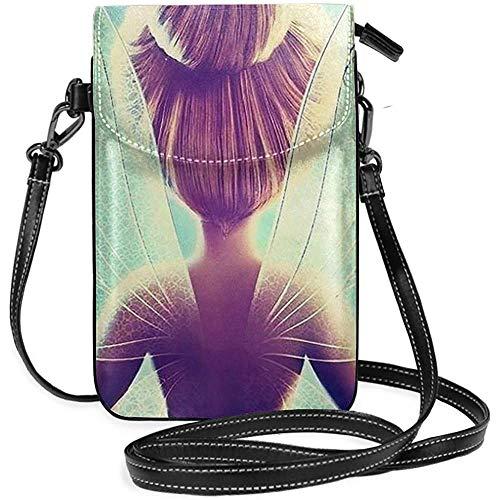 XaMiner Damen Crossbody Taschen-Tinkerbell und Fee kleine Handy Geldbörse Brieftasche mit Kreditkartenfächern