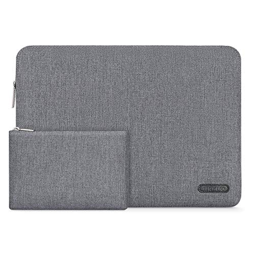 MOSISO Laptop Sleeve Compatible 13-13.3 Inch MacBook Pro, MacBook Air, Surface Laptop 2017, Notebook with Small Case, Water Repellent Polyester Ultra Slim Protective Carrying Bag Cover, Space Gray