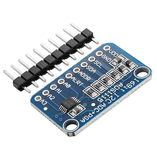AZDelivery ADS1115 ADC Modul 16bit 4 Kanäle kompatibel mit Arduino und Raspberry Pi mit eBook