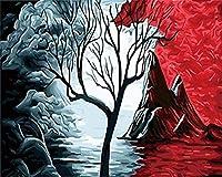 大人のためのクロスステッチキット火山11CT16x20inch初心者のためのDIY刺繡刺繍キットリビングルームと寝室の装飾のためのクロスステッチキット