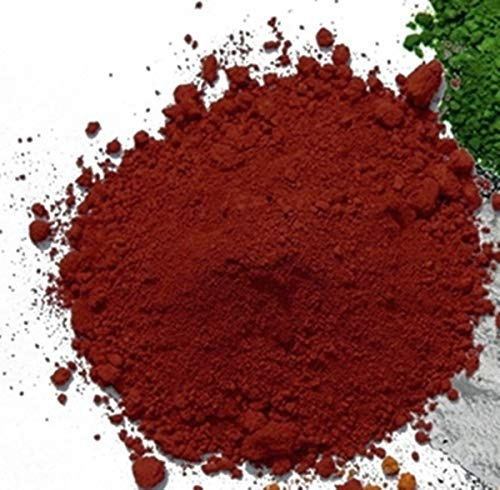Pigmentpulver, Eisenoxid, Oxidfarbe Klinker-Rot, Farbpigment 1 kg Betonfarbe